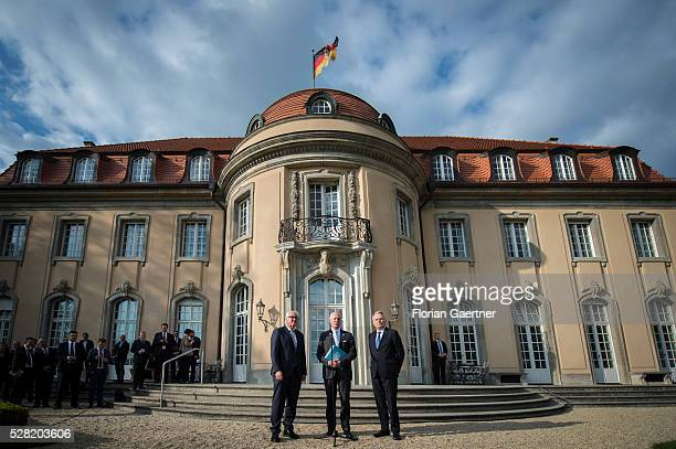 German Foreign Minister FrankWalter Steinmeier Minister for Foreign Affairs of France JeanMarc Ayrault and United Nations Special Envoy for Syria...