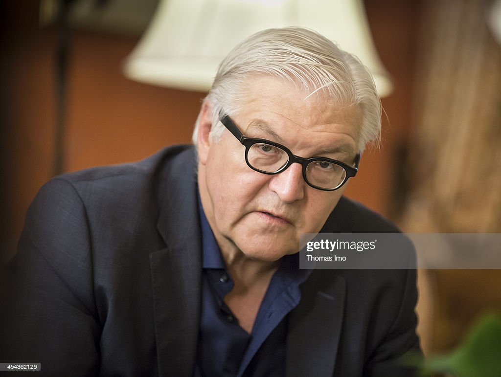 German Foreign Minister Frank-Walter Steinmeier takes part at the Informal Meeting of Foreign Affairs Ministers (Gymnich) at the Milano Congressi on August 30, 2014 in Berlin, Germany.