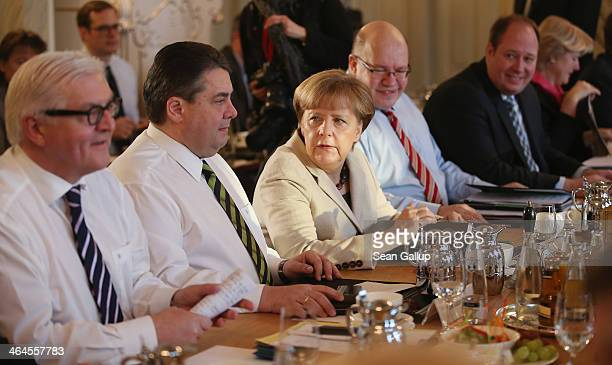 German Foreign Minister FrankWalter Steinmeier Vice Chancellor and Economy and Energy Minister Sigmar Gabriel Chancellor Angela Merkel Minister of...