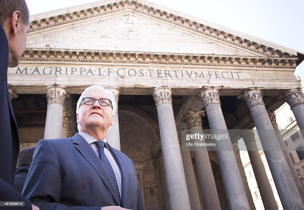German Foreign Minister Steinmeier Travels To Rome