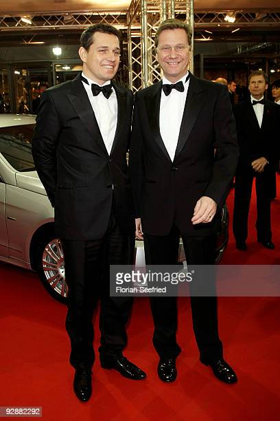 German Foreign Minister Guido Westerwelle and his boyfriend Michael Mronz attend the '16th Aids Gala' at Deutsche Oper on November 7 2009 in Berlin...