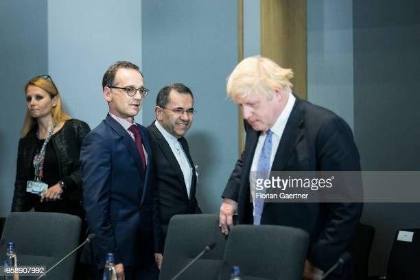 German Foreign Minister Heiko Maas and Boris Johnson , Secretary of State for Foreign and Commonwealth Affairs, are pictured before their meeting on...