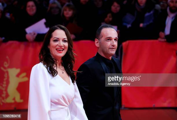 German Foreign Minister Heiko Maas and Natalia Woerner attend the 'The Kindness Of Strangers' premiere during the 69th Berlinale International Film...