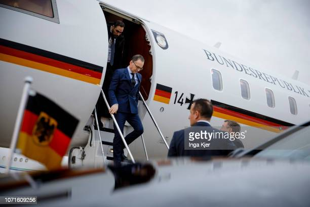 German Foreign Minister Heiko Maas arrives in Paris on December 11 2018 in Paris France Maas is on a day trip to France to hold political talks with...