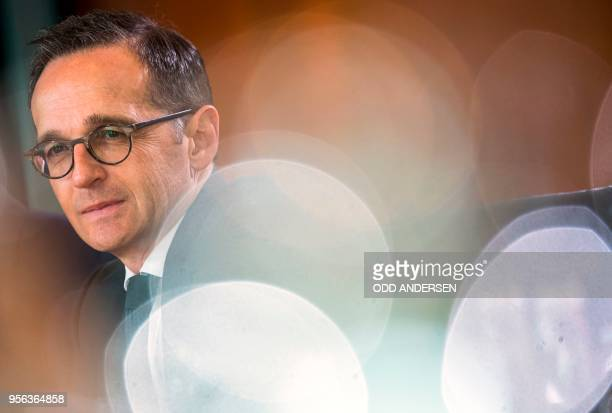 German Foreign Minister Heiko Maas attends the weekly cabinet meeting at the Chancellery in Berlin on May 9 2018
