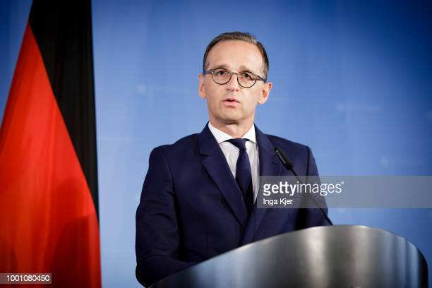 German Foreign Minister Heiko Maas gives a press conference on July 18 2018 in Berlin Germany