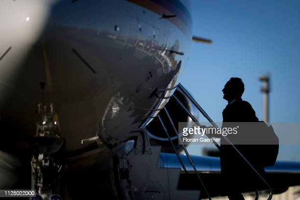 German Foreign Minister Heiko Maas is pictured before his flight to Munich on February 15 2019 in Berlin Germany The 55th Munich Security Conference...