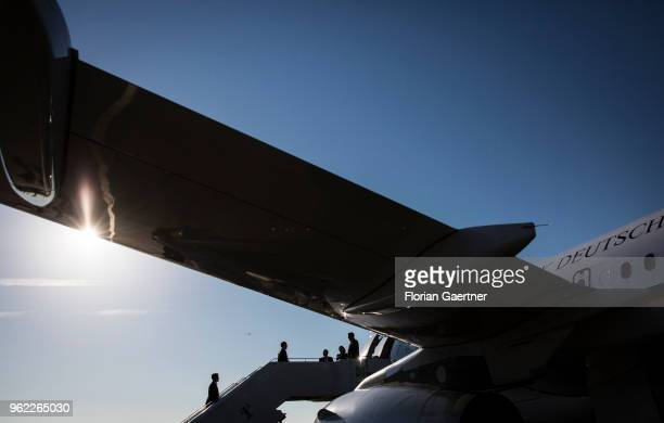 German Foreign Minister Heiko Maas is pictured before his flight to Helsinki on May 25 2018 in Berlin Germany Maas travels to Finland for political...