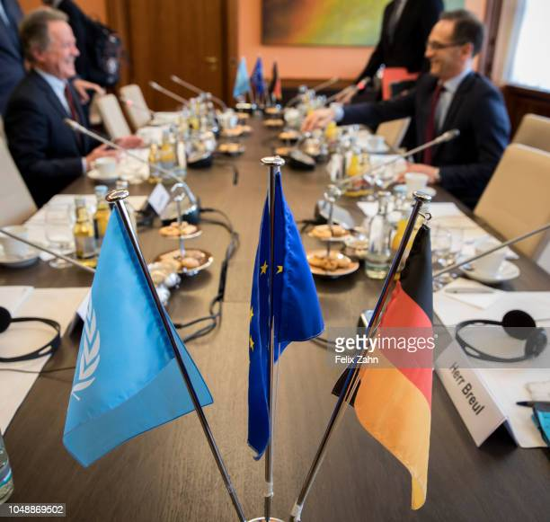 German Foreign Minister Heiko Maas meets David Beasley Executive Director of the UN World Food Program on October 10 2018 in Berlin Germany