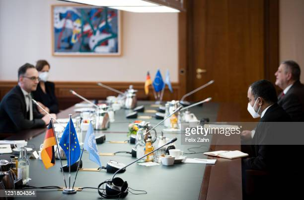 German Foreign Minister Heiko Maas meets, Jan Kubis, head of the United Nations Support Mission in Libya on March 18, 2021 in Berlin, Germany.