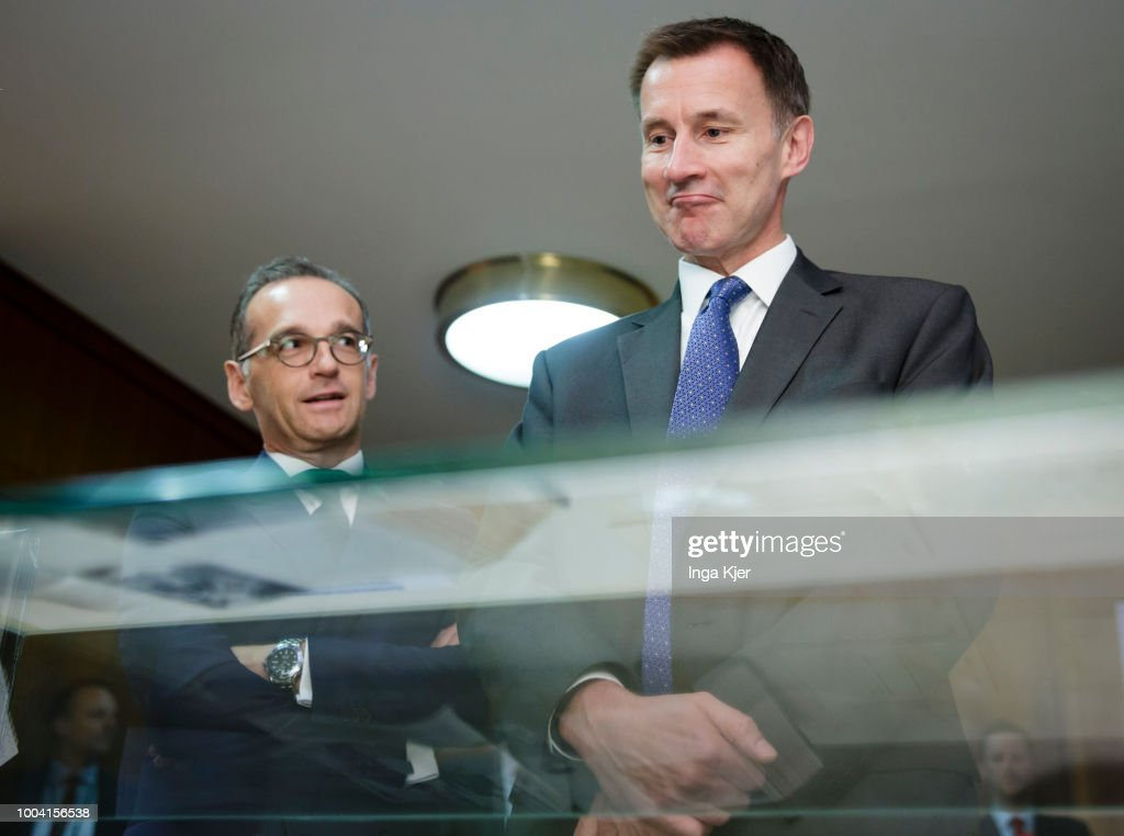British Foreign Secretary Hunt Meets With German Counterpart Maas In Berlin