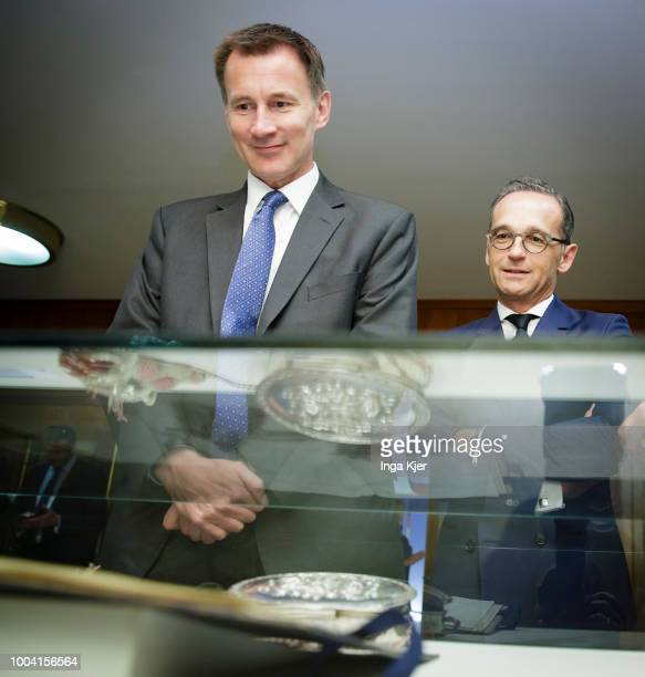 Jeremy Hunt British Foreign Secretary meets German Foreign Minister on July 23 2018 in Berlin Germany He gives a press conference