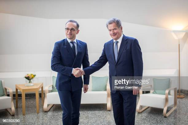 German Foreign Minister Heiko Maas meets Sauli Niinistoe President of Finland on May 25 2018 in Helsinki Finland Maas travels to Finland for...