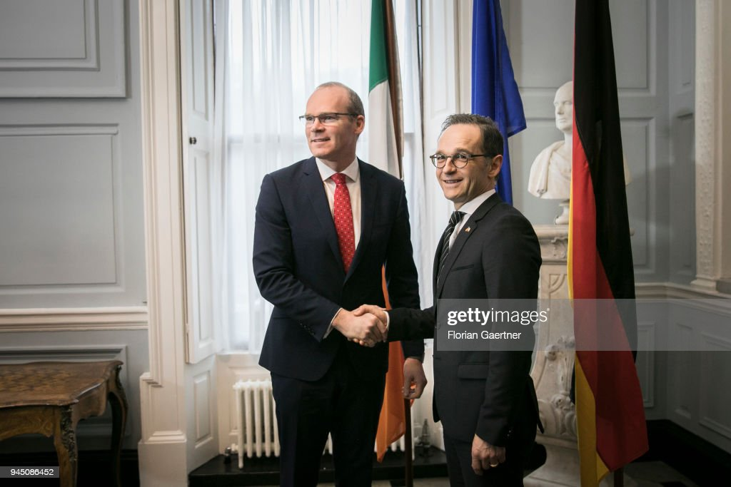 German Foreign Minister Heiko Maas Travels Ireland : News Photo