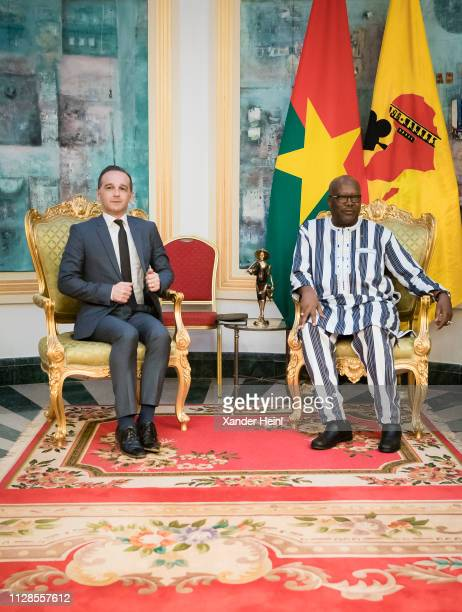 German Foreign Minister Heiko Maas meets the president of Burkina Faso Roch Marc Christian Kabore on February 26 2019