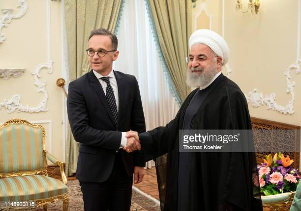 German Foreign Minister Heiko Maas meets with Hassan Rouhani, President of Iran, on June 10, 2019 in Tehran, Iran.