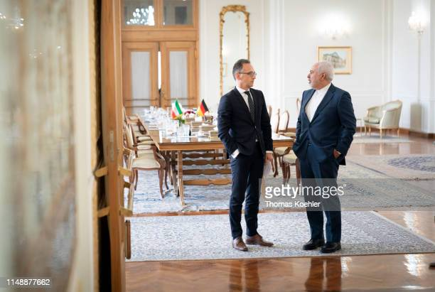 German Foreign Minister Heiko Maas meets with Mohammad Javad Zarif Foreign Minister of Iran on June 10 2019 in Tehran Iran