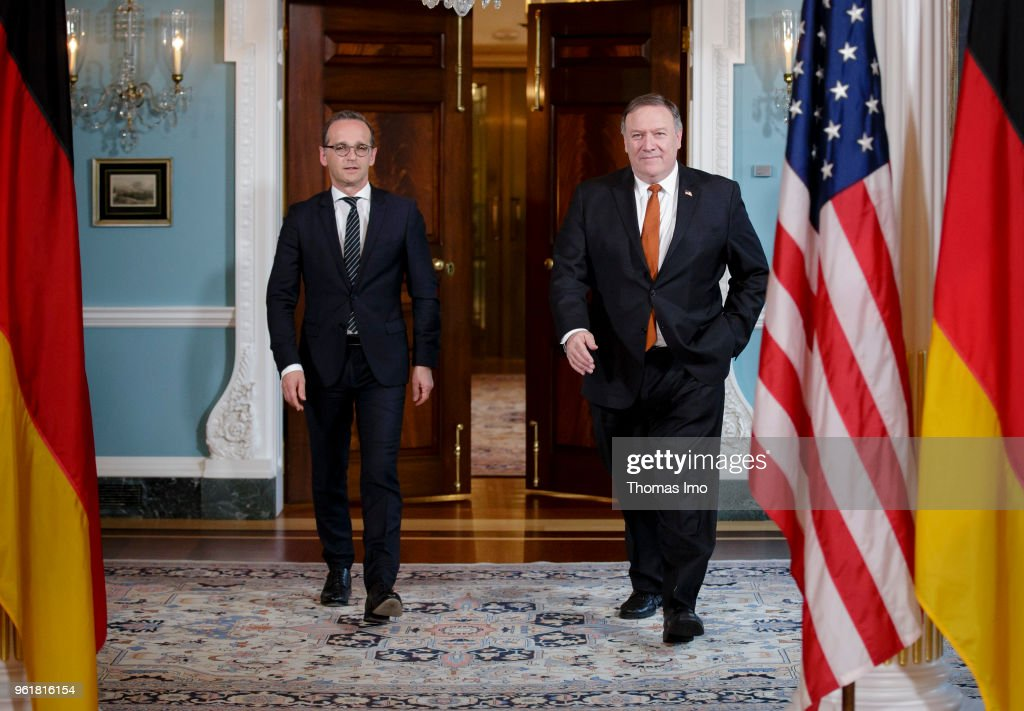 German Foreign Minister Heiko Maas meets with Secretary of State Michael Pompeo on on May 23, 2018 in Washington, DC. Maas is in Washington D.C. for political conversations.