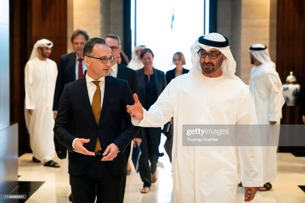 German Foreign Minister Maas Tavels The Middle East : Nieuwsfoto's