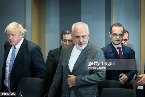 German Foreign Minister Heiko Maas , Mohammed Javad Zarif , Foreign Minister of Iran, and Boris Johnson , Secretary of State for Foreign and...