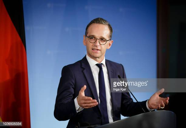 German Foreign Minister Heiko Maas on September 03 2018 in Berlin Germany