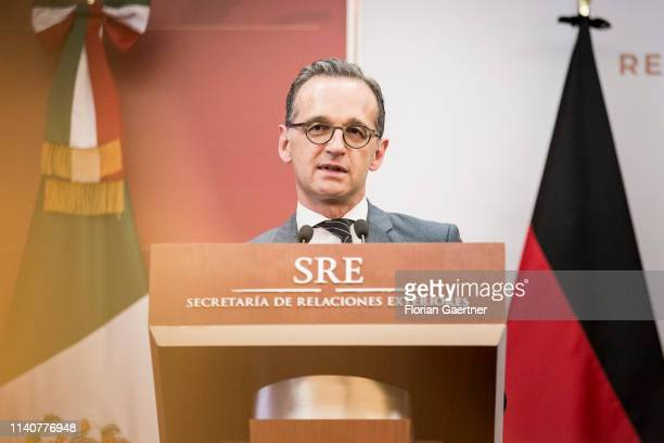 German Foreign Minister Heiko Maas speak to the media during a press conference with Marcelo Luis Ebrard Casaubon , Foreign Minister of Mexico, on...