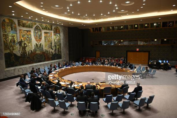 German Foreign Minister Heiko Maas speaks at a UN Security Council meeting at United Nations headquarters in New York on February 26, 2020.