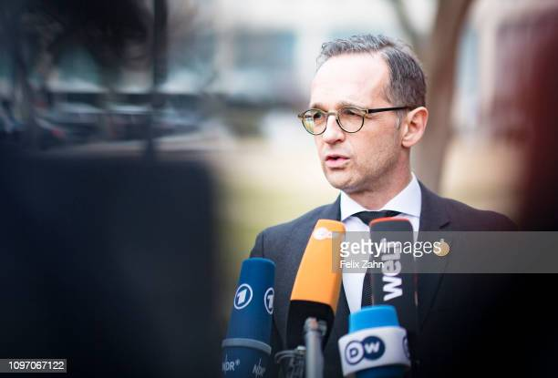Washington United States of America February 06 German Foreign Minister Heiko Maas speaks to Journalists because of the meeting of the ministers of...