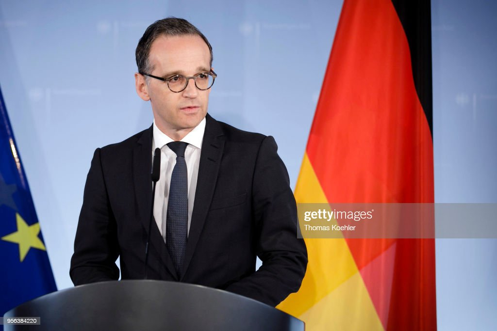 Press Conference Heiko Maas To Iran Deal