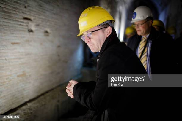 German Foreign Minister Heiko Maas takes a tour through a cooperation project of the DAI with 'Parco Archeologico del Colosseo' at the Domus Aurea on...