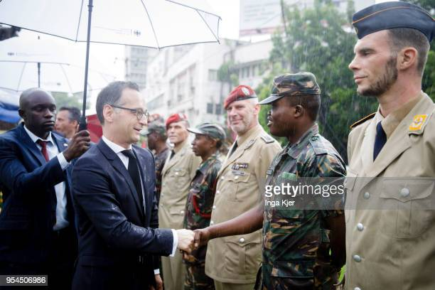 German Foreign Minister Heiko Maas visits the Askari Monument in the course of honouring African victims of First World War on May 04 2018 in Dar es...