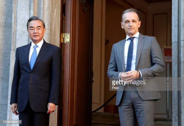 German Foreign Minister Heiko Maas welcomes China's Foreign Minister Wang Yi for a meeting on September 1 2020 in Berlin Germany