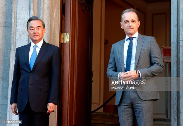 German Foreign Minister Heiko Maas welcomes China's Foreign Minister Wang Yi for a meeting in Berlin Germany on September 1 2020