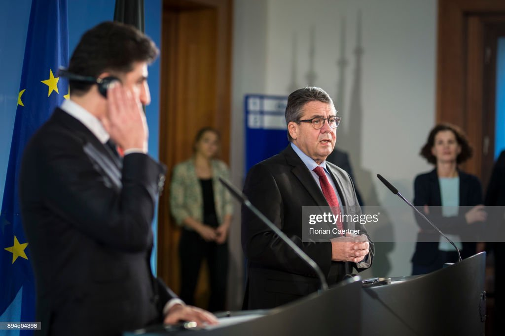 German Foreign Minister Gabriel Meets Nechirvan Barzani