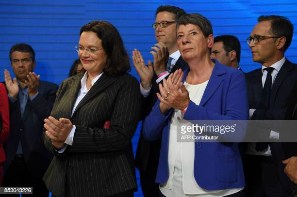 German Foreign Minister Sigmar Gabriel German Vice Chancellor and German Labour and Social Minister Andrea Nahles German Environment Minister Barbara...