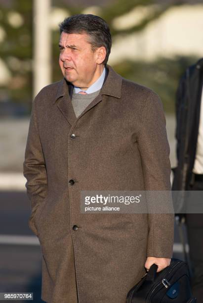 German Foreign Minister Sigmar Gabriel walking towards a German Air Force Airbus A319 in Berlin Germany 14 February 2018 Gabriel is traveling to...