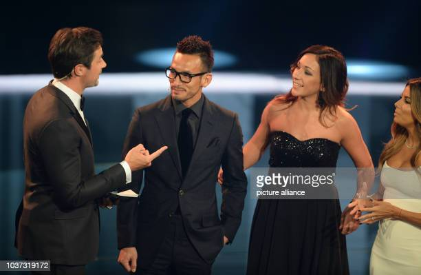 German former footballer Nadine Kessler and Japanese former footballer Hidetoshi Nakata pictured at the FIFA World Players of the Year 2016 gala in...
