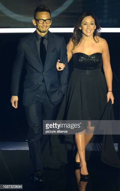 German former player Nadine Kessler and Japanese former player Hidetoshi Nakata pictured at the FIFA World Players of the Year 2016 gala in Zurich...