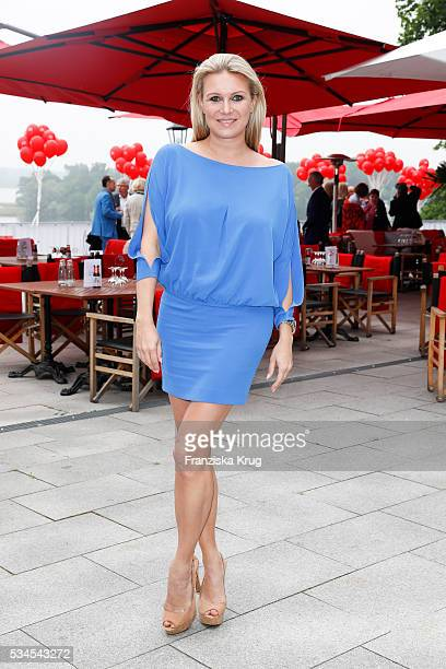 German former rhythmic gymnast Magdalena Brzeska during the 'Ein Herz fuer Kinder' summer party at Wannseeterrassen on May 26 2016 in Berlin Germany