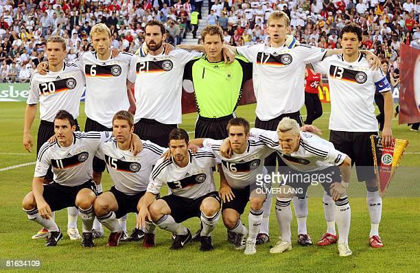 German forward Lukas Podolski German midfielder Simon Rolfes German defender Christoph Metzelder German goalkeeper Jens Lehmann German defender Per...