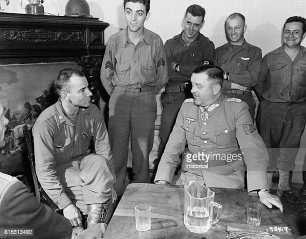 German General Dietrich von Choltitz surrenders the city of Paris to Allied forces in August 1944 Choltitz was ordered by Hitler to burn Paris rather...