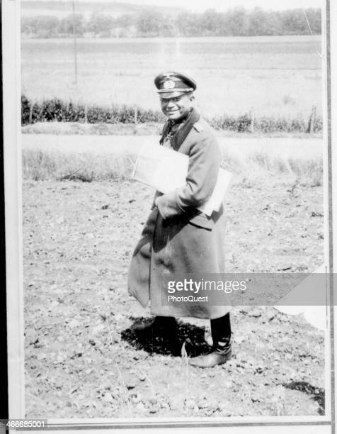 German General Heinz Guderian greets staff on the road Le Quitteur France June 16 1940