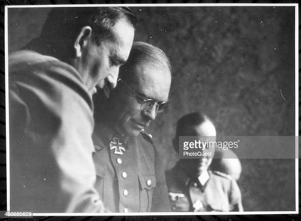 German General Heinz Guderian meets with staff late 1930s or early 1940s