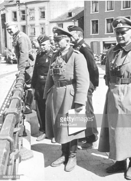 German General Heinz Guderian on an inspection tour Bouillon France May 12 1940