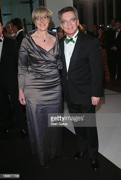 German German Defense Minister Thomas de Maiziere and his wife Martina attend the 2012 Bundespresseball at the Intercontinental Hotel on November 23...