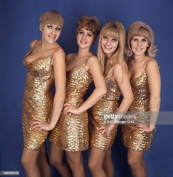 German girl group the Golden Girls pose for a group portrait circa 1965 in Hamburg Germany