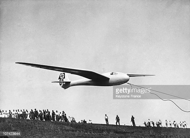 German Glider'S Taking Off In Germany On August 1936