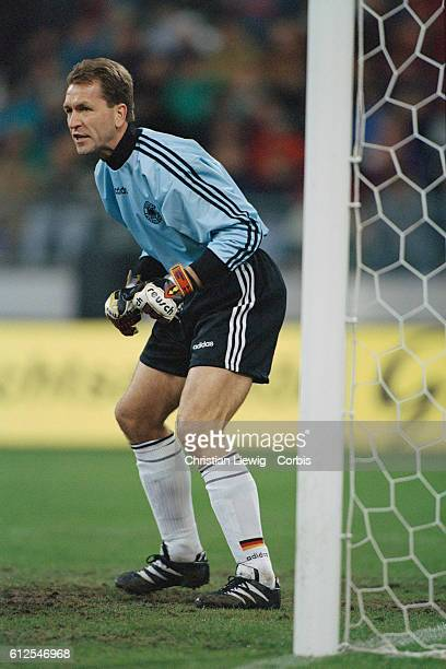 German goalkeeper Andreas Kopke during a Germany vs Denmark exhibition soccer match