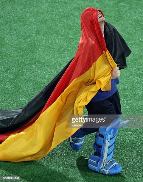 German goalkeeper Max Weinhold celebrates