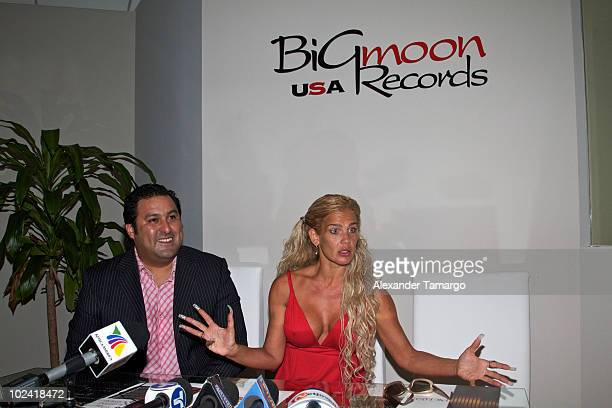 German Gonzalez and Niurka Marcos make an appearance as Niurka Marcos signs a record deal with Big Moon Records on June 25 2010 in Miami Florida